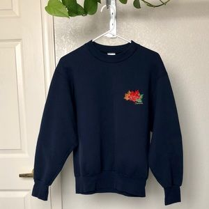 Vintage Montreal Canada Autumn Leaves Sweater